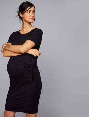 A Pea in the Pod Side Tie Detail Maternity Dress