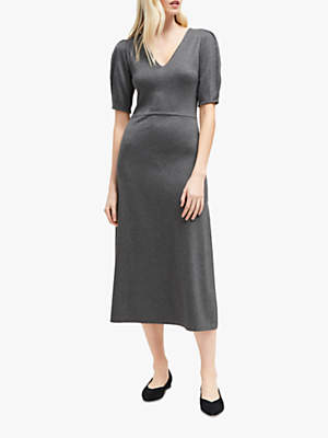 Elyn Knit Midi Dress, Charcoal Mel