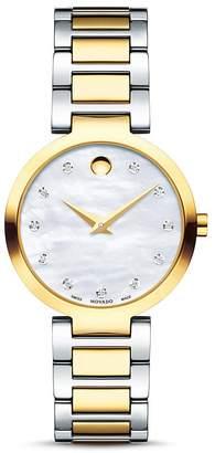 Movado Modern Classic Diamond Two-Tone Watch, 28mm
