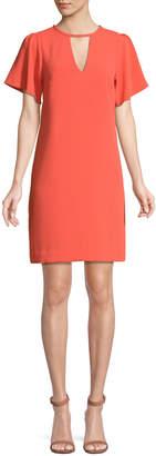 Trina Turk Anderson Short-Sleeve Cutout Mini Dress