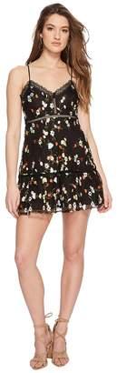 BB Dakota Chaka Floral Embroidered Mesh Dress Women's Dress
