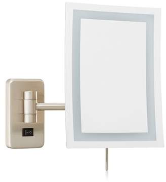 Jerdon JRT710NLD 6.5-Inch by 9-Inch Wall Mount Rectangular Direct Wire Makeup Mirror, Nickel Finish