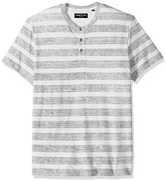 Kenneth Cole New York Men's Reverse Printed Stripe Henley Shirt