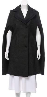 Derek Lam Patterned Wool Cape