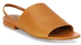 Vince Dawson Leather Flat Slingback Slides $250 thestylecure.com