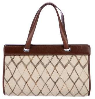 Missoni Leather-Trimmed Handle Bag
