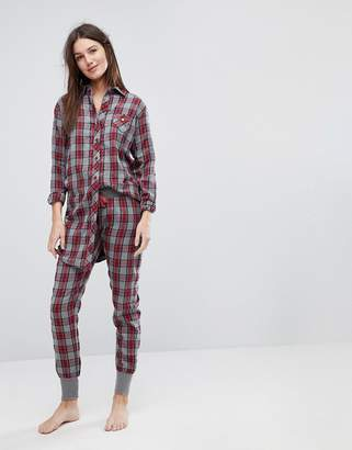 Esprit Checked Pyjama Bottoms