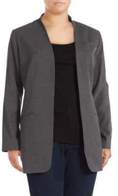 Calvin Klein Textured Open Front Jacket