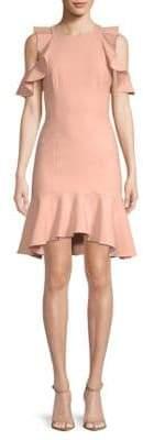 Micah Ruffle Short-Sleeve Sheath Dress
