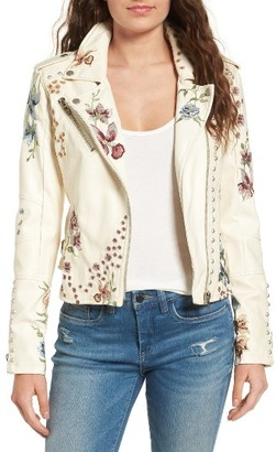 Women's Blanknyc Embroidered Moto Jacket $168 thestylecure.com
