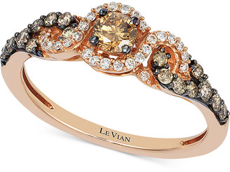 Le Vian Diamond Three-Stone Ring in 14k Rose Gold (1/2 ct. t.w.) $1,650 thestylecure.com