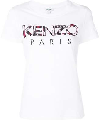 Kenzo Leopard Print Paris T-shirt