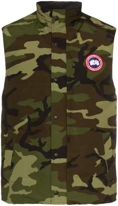 Canada Goose garson camouflage print gilet