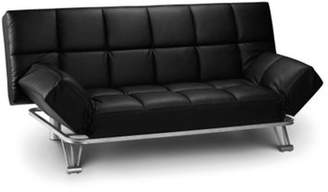 At Fu0026F Clothing · Happy Beds Manhattan Faux Leather Sofa Bed   Black Small  Double (40)