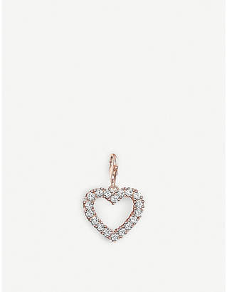 Thomas Sabo Charm Club cut-out rose-gold heart charm