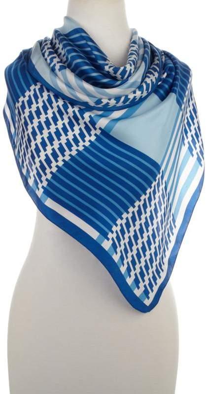 Echo Design Echo Parisian Stripe Silk Triangle Scarf