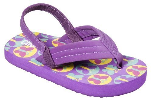 Toddler Girls' Circo Berdie Butterfly Flip Flops - Purple