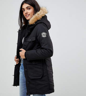 Brave Soul Tall Riverdale Heavy Parka With Rubberised Trims