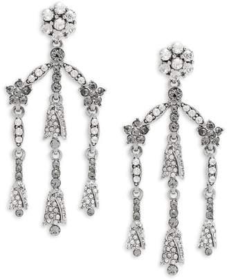 Black chandelier earrings shopstyle oscar de la renta womens crystal chandelier earrings aloadofball Choice Image