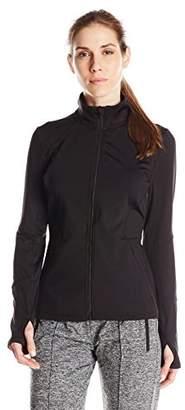 Lark & Ro Women's Active Seamed Track Jacket