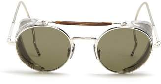 Thom Browne Round Frame Sunglasses - Mens - Silver