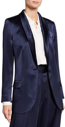 Tory Burch Satin One-Button Blazer