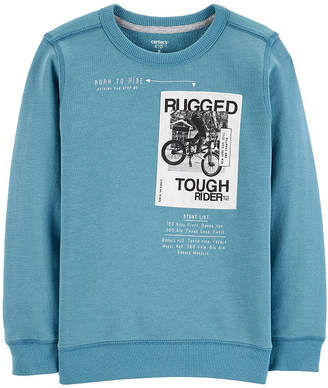Carter's Puffer Vest Long Sleeve Sweatshirt Boys