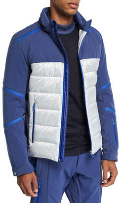 Stefano Ricci Men's Down Ski Jacket w/ Tuckaway Hood