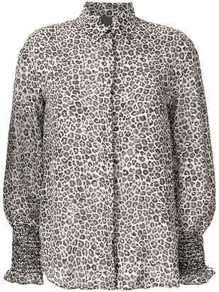 Pinko Alberto leopard print shirt