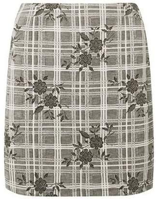 Dorothy Perkins Womens Floral Check Print Mini Skirt