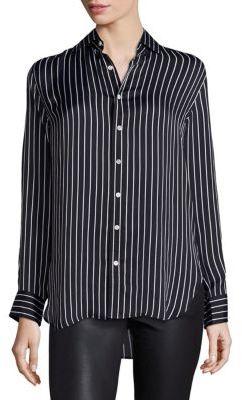 Polo Ralph Lauren Striped Silk Shirt $245 thestylecure.com