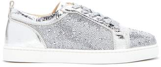 Christian Louboutin Louis Junior Strass crystal-embellished trainers
