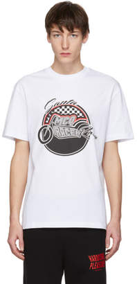 McQ White Racing Dropped Shoulder T-Shirt