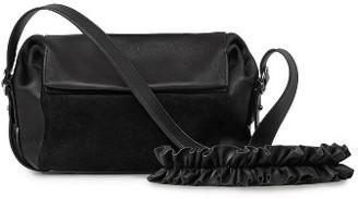 Allsaints Small Maya Calfskin Crossbody Bag - Black $298 thestylecure.com