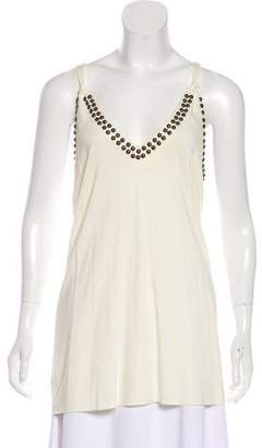 Twelfth Street By Cynthia Vincent Studded Sleeveless Top
