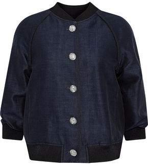 3.1 Phillip Lim Cotton And Silk-Blend Bomber Jacket