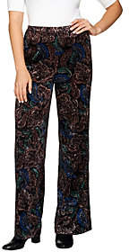 Joan Rivers Classics Collection Joan Rivers Petite Length Pull-On CrushedVelvet Pants