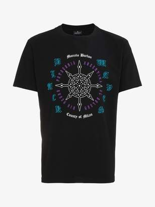 Marcelo Burlon County of Milan Rosone print short sleeve t shirt