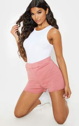 PrettyLittleThing Dusty Pink Sweat Casual Short