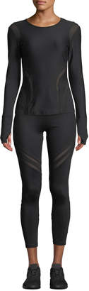 Gottex X By Mesh Cutout High-Waist Active Leggings