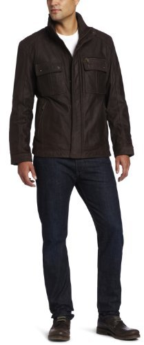Marc New York by Andrew Marc Men's Ballard Buffalo Nubuck Leather Trucker Jacket