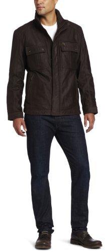 Marc New York by Andrew Marc Men's Ballard Buffalo Nubuck Leather Trucker Jacket
