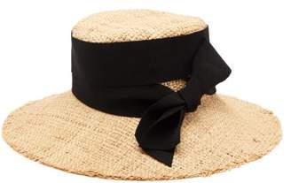 Ruslan Baginskiy Bow Embellished Straw Hat - Womens - Beige