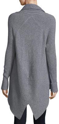 Metric Knits Multi-Ribbed High-Low Cardigan