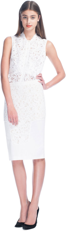 No. 21 No. 21: Lace Panel Pencil Skirt