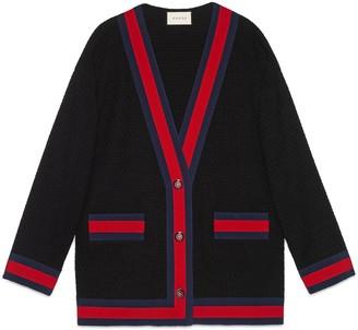 Gucci Tweed jacket with Web