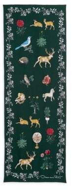 Oscar de la Renta Enchanted Forest Wool-Blend Wrap