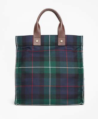 Brooks Brothers Black Watch Plaid Wool Tote Bag