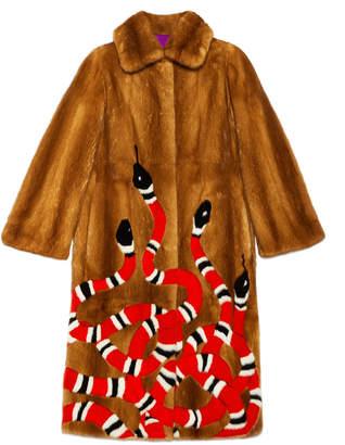 Kingsnake intarsia mink fur coat $41,000 thestylecure.com