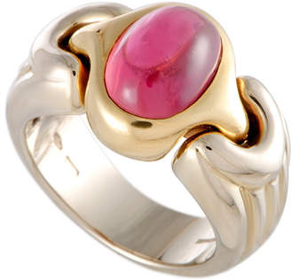 Bulgari 18K Two-Tone Tourmaline Ring